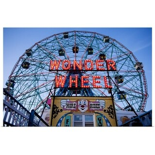 """The wonder wheel at Coney Island, NYC"" Poster Print"
