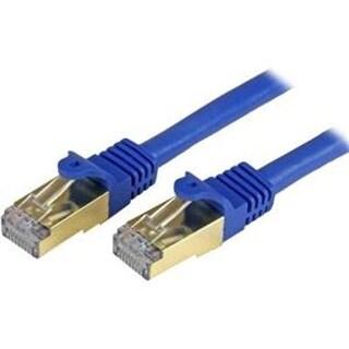 Startech 25' Cat6a Patch Cable, Shielded Stp, Blue C6aspat25bl