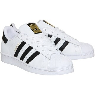 Adidas Superstar Rubber Shell Toe Shoes - White/Black/White