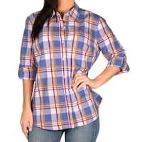 Dickies Womens 3/4 Roll-Up Sleeve Blouse