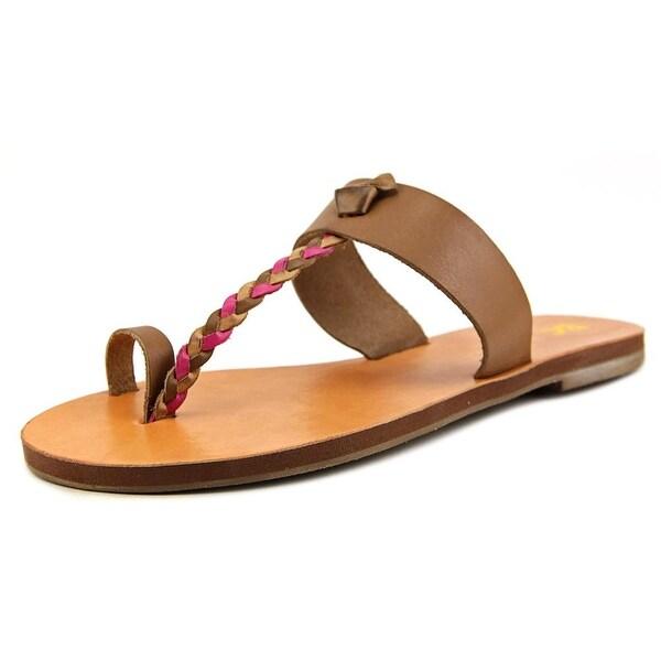 BC Footwear Compact Women Open Toe Leather Slides Sandal