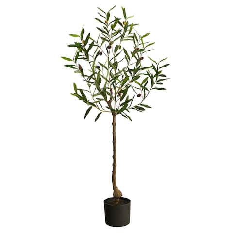 """4' Olive Artificial Tree - 6"""""""