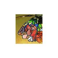 Meyda Tiffany 27482 Stained Glass / Tiffany Fan Light Kit Glassware
