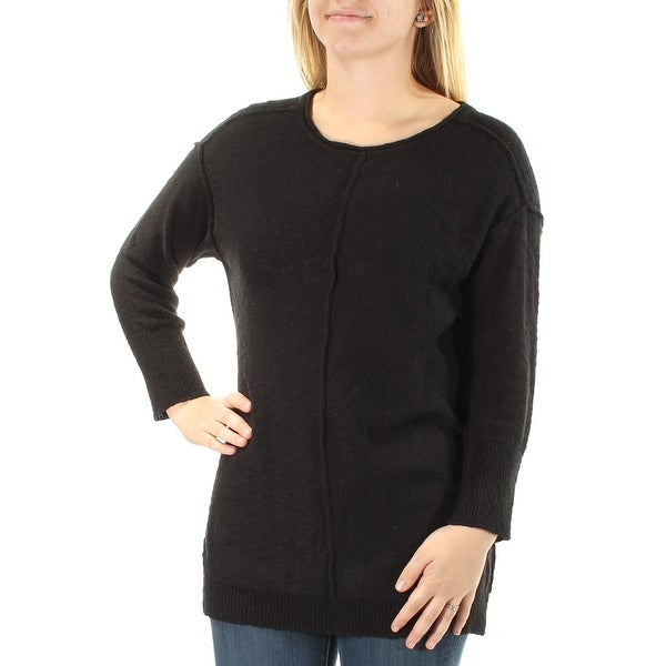 VINCE CAMUTO Womens Black Long Sleeve Jewel Neck Sweater Size: S