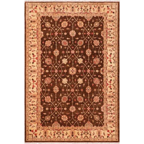 """Shabby Chic Ziegler Stephine Hand Knotted Area Rug -6'1"""" x 8'10"""" - 6 ft. 1 in. X 8 ft. 10 in."""