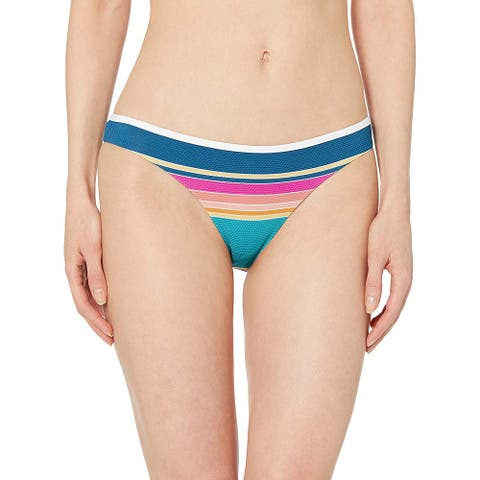 Rip Curl Junior's Golden Haze Skimpy Hi Leg Bikini Bottom, Multi, M - Medium