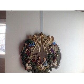 "Heavy-Duty Metal Door Wreath Hanger 12""-White Painted - White"