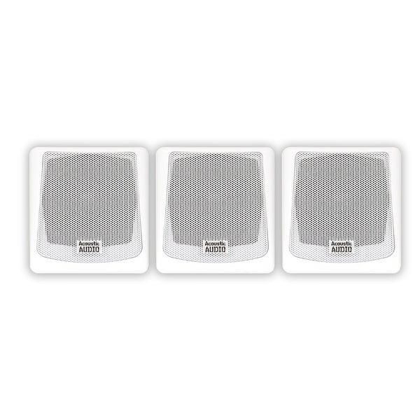 Acoustic Audio AA051W Mountable Indoor / Outdoor Speakers 3 Piece Set AA051W-3S