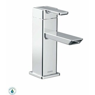 Moen S6700HC Single Hole Bathroom Faucet - Includes Matching Pop-Up Drain Assembly from the 90 Degree Collection