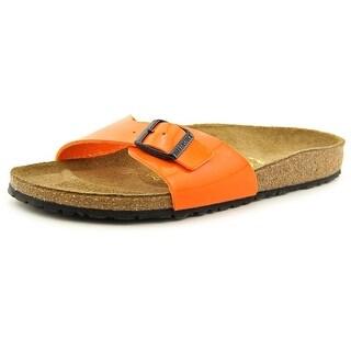 Birkenstock Madrid Women N/S Open Toe Leather Ivory Slides Sandal