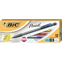 BIC Xtra Life Mechanical Pencils, 0.5 mm Tip, Clear Barrels, Pack of 12