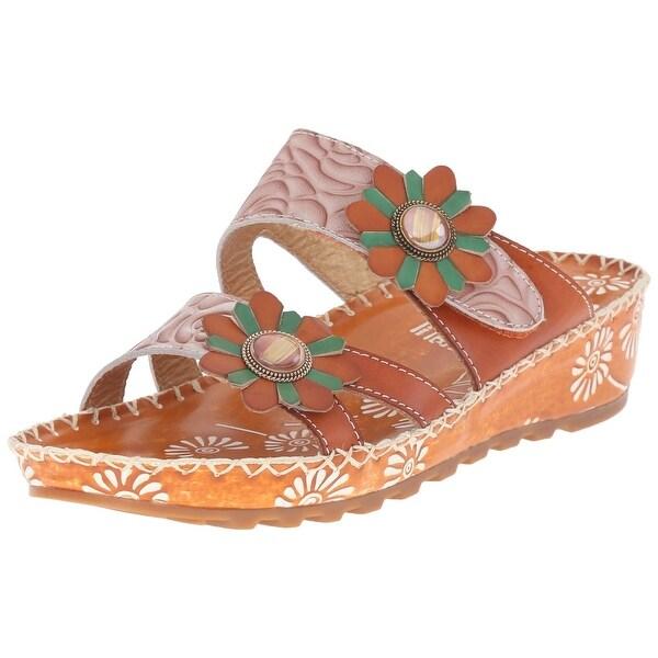 L'Artiste by Spring Step Women's Fray Flat Sandal - Camel