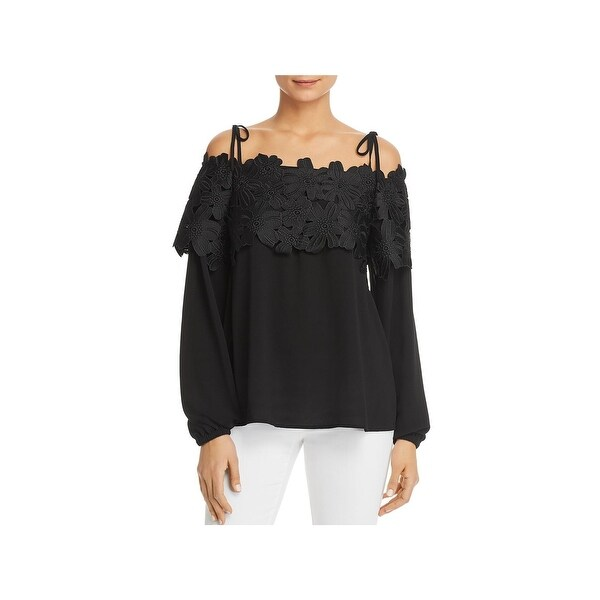 c2ccfd65356b0f Shop MICHAEL Michael Kors Womens Dress Top Cold Shoulder Long ...