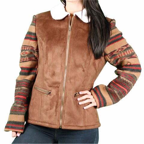 Upcountry Ladies Faux Suede Aztek Coat