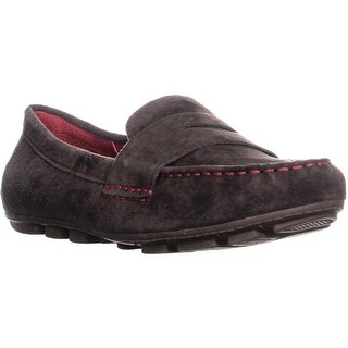 White Mountain Skipper Slip-On Loafers, Brown/Nubuck - 8.5 us