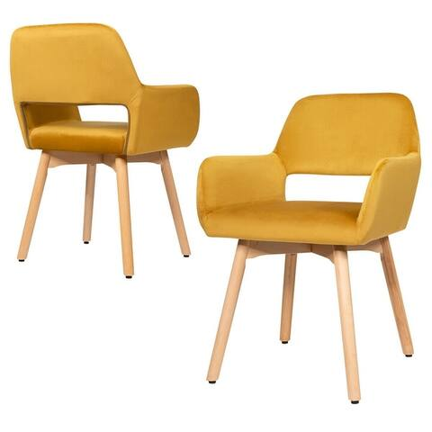 Set of 2 Modern Accent Armchairs