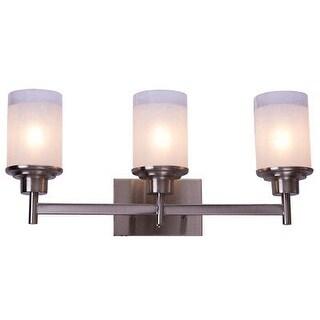Costway 3-Light LED Vanity Fixture Brushed Nickel Wall Sconces Lighting Bathroom
