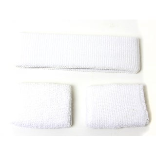 New Headband and Wristband Combo (14 Different Colors Available), White