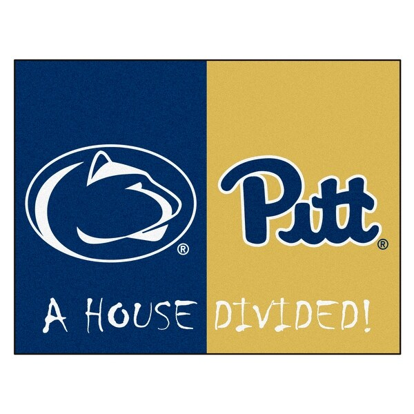 Ncaa House Divided Penn State Pittsburgh Non Skid Mat Rectangular Area