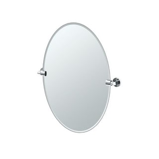 "Gatco 4109 Zone 24"" Oval Beveled Wall Mounted Mirror with Chrome Accents"