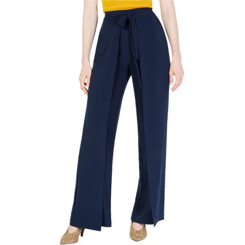 Bar Iii Womens Tie-Front Casual Wide Leg Pants