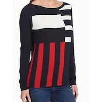 a7231ac38fd2 Shop Tommy Hilfiger Women s Metallic Polka-Dot Pullover Sweater ...