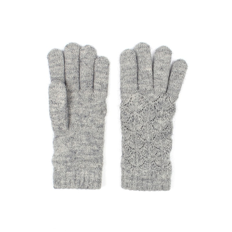 Womens Cashmere Stretch Knit Winter Gloves Wine One Size