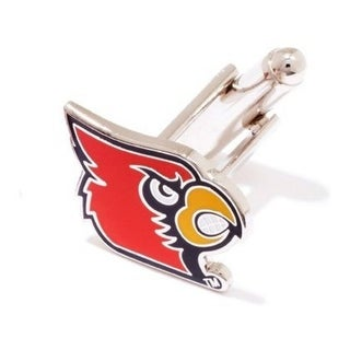 Silver Plated University of Louisville Cardinals Cufflinks