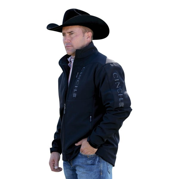 7531d7c5c Cinch Western Jacket Mens Bonded Adjustable Cuffs Zip Black