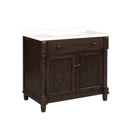 """Montvale 37"""" Dark Brown Single Bathroom Vanity"""