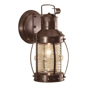 "Norwell Lighting 1108 Seafarer Single Light 12"" Tall Outdoor Wall Sconce with Clear Glass Shade"