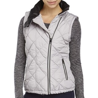 Marc New York Performance NEW Gray Womens Large L Puffer Vest Jacket