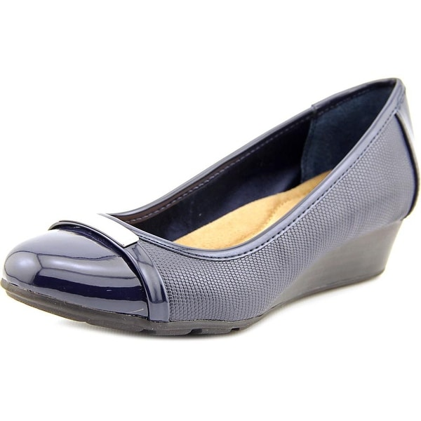 Giani Bernini Ambir Women  Open Toe Synthetic Blue Wedge Heel
