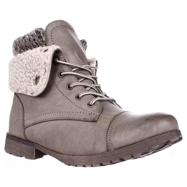 Rock & Candy Spraypaint Foldover Ankle Boots, Taupe