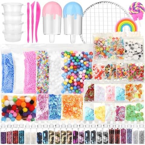 Slime Supplies Kit Foam Beads Charms Styrofoam Balls Tools For DIY Slime Making - M