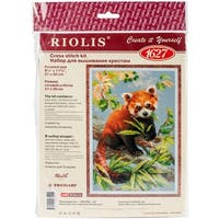 "Red Panda Counted Cross Stitch Kit-10.25""X15"" 14 Count"