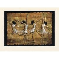 ''Rejoice'' by Monica Stewart African American Art Print (26 x 35 in.)