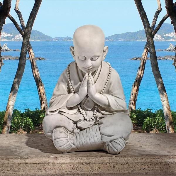Design Toscano Praying Baby Buddha Asian Garden Statue