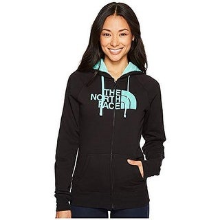 The North Face Women's Half Dome Full Zip Hoodie TNF Black/Bermuda Green