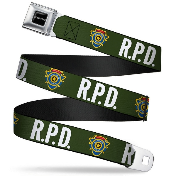 Resident Evil Full Color Black White Rpd Raccoon Police Detective Badge Seatbelt Belt