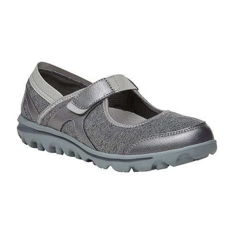 Propet Onalee Mary Jane Flats Womens Flats Casual - Grey