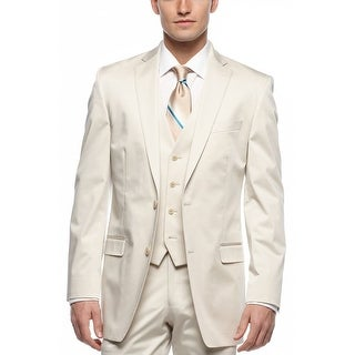 Calvin Klein CK Cream Cotton Slim Fit Sportcoat 42 Regular 42R Suit-Separates
