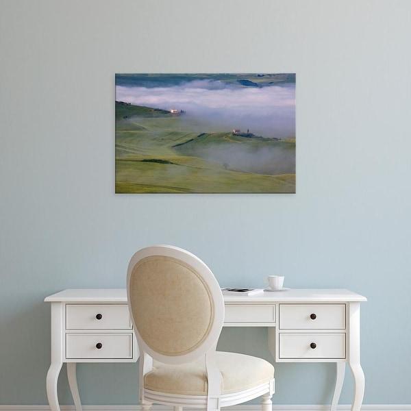Easy Art Prints Terry Eggers's 'Villa With Wheat Fields In Fog' Premium Canvas Art