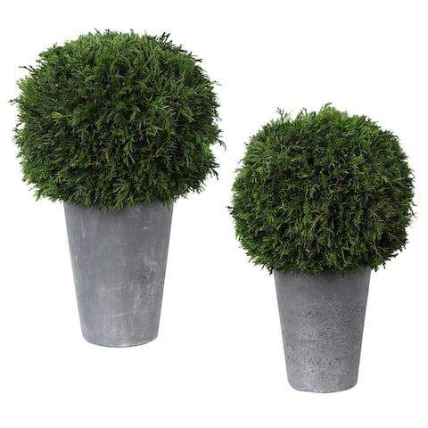 Uttermost Cypress Globes (Set of 2)
