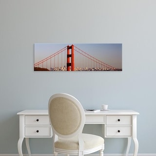 Easy Art Prints Panoramic Images's 'Golden Gate Bridge, San Francisco, California, USA' Premium Canvas Art