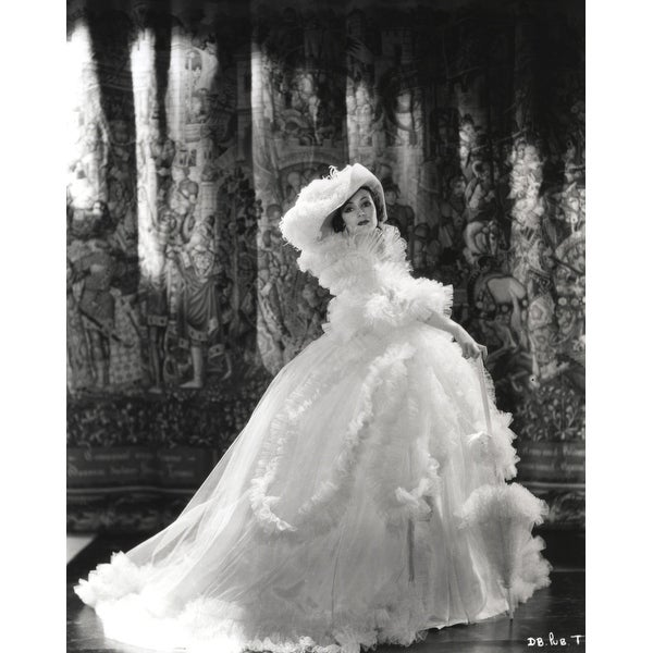 cd08bb0ab Shop Dolores Del Rio Posed in Feather Gown in Black and White Photo Print -  Free Shipping On Orders Over  45 - Overstock - 25384138