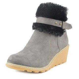 Dirty Laundry Highland Women Round Toe Suede Black Ankle Boot