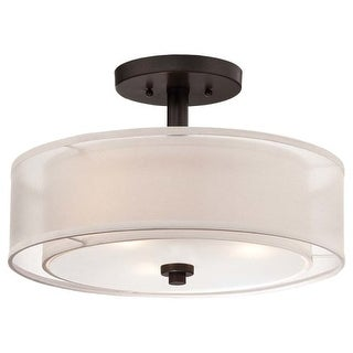 Minka Lavery 4107 3 Light Semi-Flush Ceiling Fixture from the Parsons Studio Collection