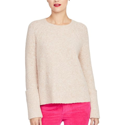 Rachel Rachel Roy Womens Elle Pullover Sweater Metallic Knit - Blush