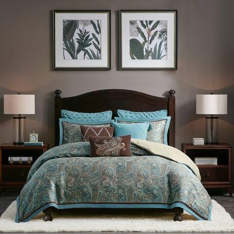 Hampton Hill Lauren Blue Paisley Polyester Comforter Set